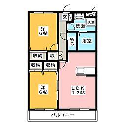 CFハイツ VI[3階]の間取り