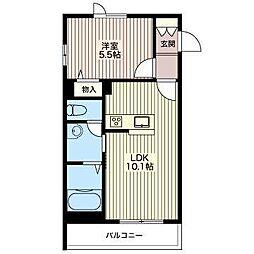 JR東北本線 宝積寺駅 徒歩30分の賃貸マンション 3階1LDKの間取り