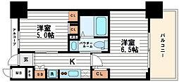 エステムプラザ心斎橋EAST4ブランディア[3階]の間取り