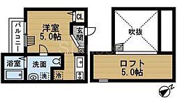 大阪府堺市堺区出島海岸通3丁の賃貸アパートの間取り