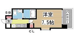 ER City's兵庫駅[5階]の間取り