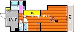アルティザ東島田[6階]の間取り
