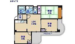 エスポワール住之江公園[5階]の間取り
