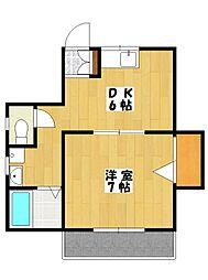 クレスト喜山2[2階]の間取り