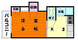 ハイツサチII[2階]の間取り