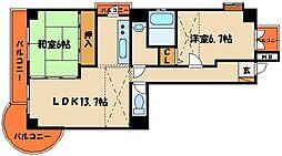 シャルム樽屋町[3階]の間取り