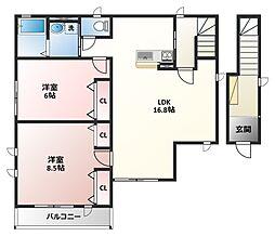 SK Residence(エスケーレジデンス)[2階]の間取り