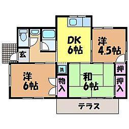 [一戸建] 愛媛県松山市南梅本町 の賃貸【/】の間取り