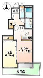 仮)八王子市大谷町新築アパート[101号室]の間取り