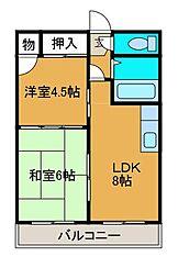 百合丘マンション[4階]の間取り