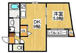 Pear Residence Minato[703号室]の間取り