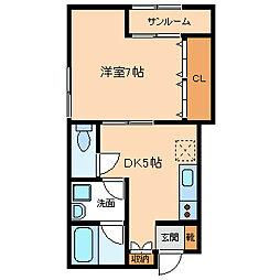 イズミコーポ21[2階]の間取り
