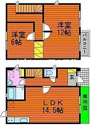 [テラスハウス] 岡山県岡山市南区東畦丁目なし の賃貸【/】の間取り