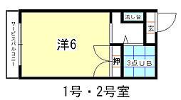 ハイツ村岡[302号室]の間取り