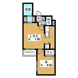 エクセル平岸[2階]の間取り