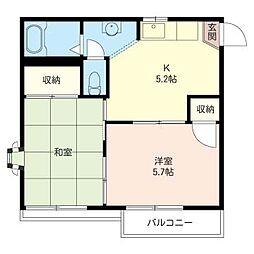 タカオー湘南[2階]の間取り