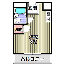 大阪府河内長野市汐の宮町の賃貸マンションの間取り