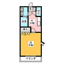 コーポハウス[1階]の間取り