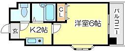 シンパシー京橋[2階]の間取り