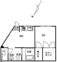 埼玉県川口市金山町の賃貸マンションの間取り