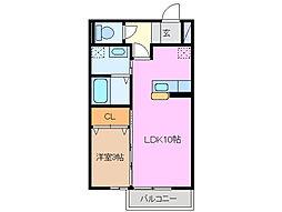 エクレール平田[1階]の間取り