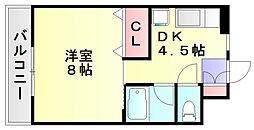 クオリスie[3階]の間取り