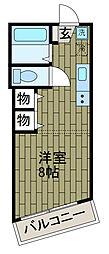 ゼファール4[3階]の間取り