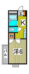 スクエアII[1階]の間取り