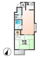 レジデンシア鶴舞(旧サンコート鶴舞)[2階]の間取り