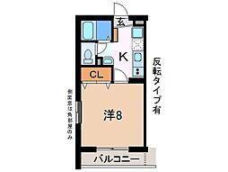 静岡県御殿場市大坂の賃貸マンションの間取り