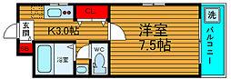 大阪府堺市西区浜寺石津町中5丁の賃貸マンションの間取り