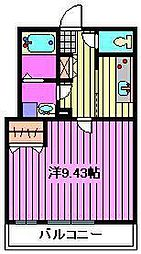 ゼフィールARAI[2階]の間取り