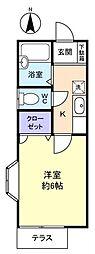 エースメゾン3[1階]の間取り