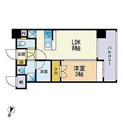 仮称)松香台1丁目マンション 2階1LDKの間取り