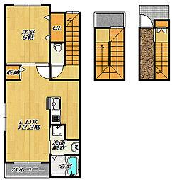 エトワールイッサ1[3階]の間取り