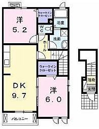 ベル フレール[2階]の間取り
