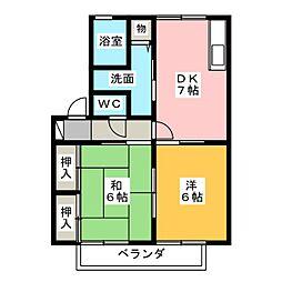 ロイヤルガーデン C棟[2階]の間取り