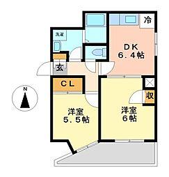 レジデンシア東別院(旧:第7協和ビル)[2階]の間取り