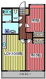 クレセントM[1階]の間取り