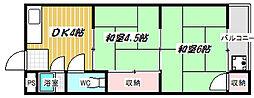 洛東ハイツ[C33号室]の間取り