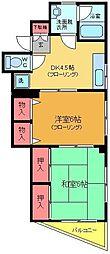 ソレイユ吉田[201号室]の間取り