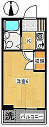 東京都世田谷区代田6丁目の賃貸マンションの間取り