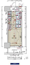阪神なんば線 九条駅 徒歩3分の賃貸マンション 3階1Kの間取り
