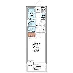 名古屋市営東山線 覚王山駅 徒歩14分の賃貸マンション 1階1Kの間取り