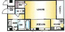 Osaka Metro千日前線 北巽駅 徒歩15分の賃貸マンション 5階1LDKの間取り