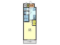 Osaka Metro千日前線 今里駅 徒歩12分の賃貸マンション 2階1Kの間取り