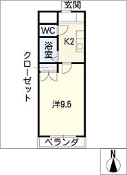 エーデルハイム ツジ[3階]の間取り