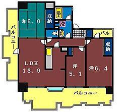INSURANCE BLDG.9[310号室]の間取り