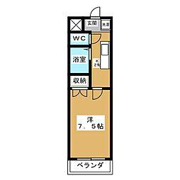 グレイスガーデン京都[4階]の間取り