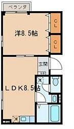サンボナール鈴木[1階]の間取り